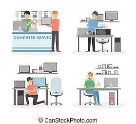 Computer repair service.