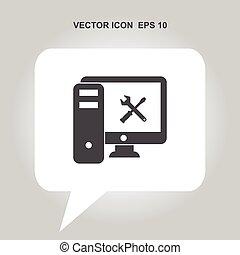computer repair vector icon