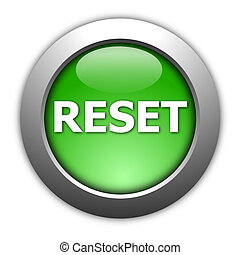 computer reset button illustration isolated on white