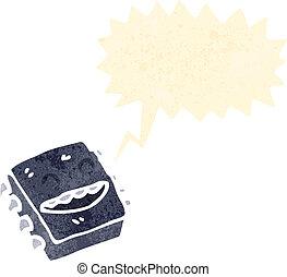 computer, retro, microchip, cartone animato
