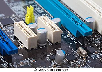 computer, scheda madre, closeup