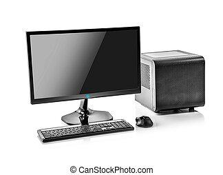 computer., schreibtisch