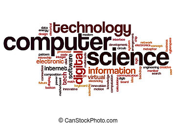 Computer science word cloud