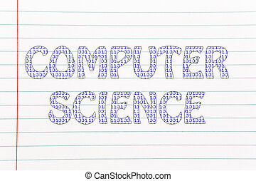 computer science writing binary code pattern the word  computer science writing binary code pattern