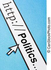 politics - Computer Screen, concept of online politics