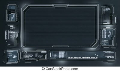 Computer Screen - High quality futuristic computer screen...