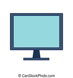 computer screen icon over white background