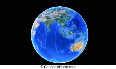 Planet Earth rotating - Computer screen - Planet Earth...