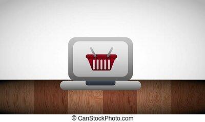 computer screen shopping basket online order