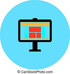 computer screen vector icon