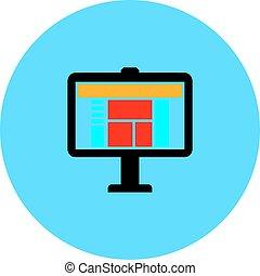 computer screen vector icon
