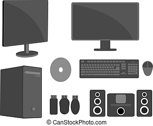 Computer Screens and Equipments