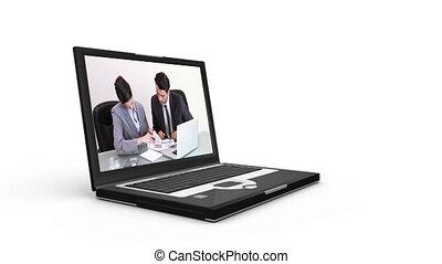 computer, scrolling, affari, videi