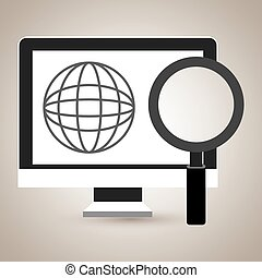 computer search icon vector illustration eps 10