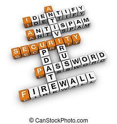 computer security   (3D crossword orange series)