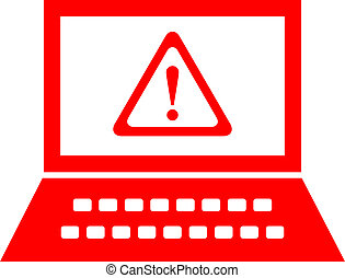 Computer security alert, vector symbol