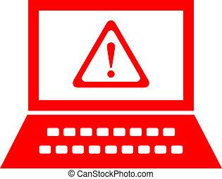 Computer security alert, vector symbol