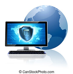 Computer security concept - Internet conceptual image....