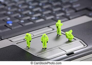Computer security concept - Miniature HAZMAt (hazardous...