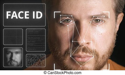 Computer security system scans human face - Computer...