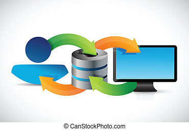 computer server connection concept illustration