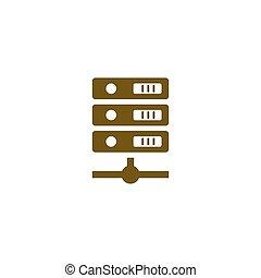 Computer Server icon, vector illustration