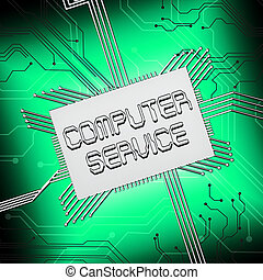 Computer Service Shows Pc Repair 3d Illustration - Computer...