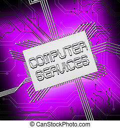 Computer Services Shows Pc Repair 3d Illustration - Computer...
