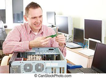 computer, servizio
