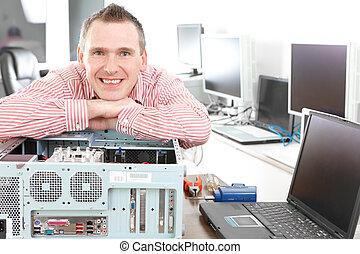 computer, servizio, proprietario