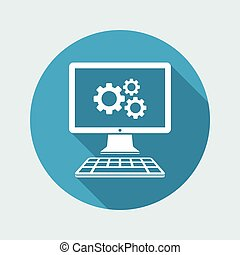 Computer settings flat icon