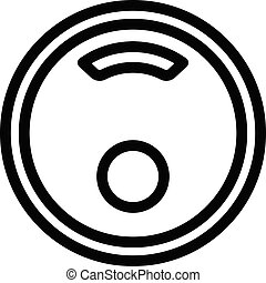 Computer smart scales icon, outline style