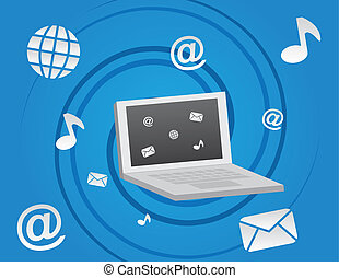 Computer Social Media Icons