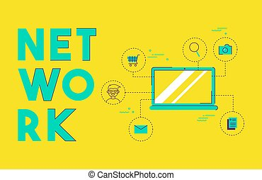 Computer social media network concept design