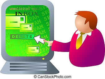 computer, spam
