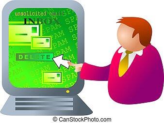 computer spam - you've been spammed
