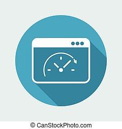 Computer speed upgrade - Vector flat icon