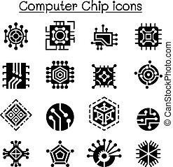 computer splittert, und, elektronischer stromkreis, heiligenbilder