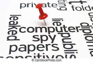 Computer spy concept