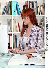 computer, studente, lavorativo