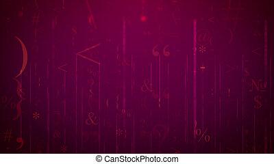 computer, symbolen, in, cyberspace, illustratie