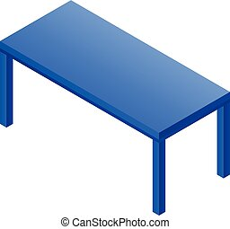 Computer table icon, isometric style