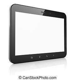 computer, tablet, abstract, achtergrond, pc), black , witte , (tablet