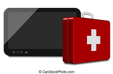 Computer tablet first aid