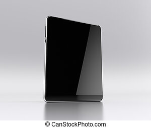 Computer tablet on white