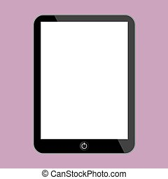 Computer tablet Vector illustration