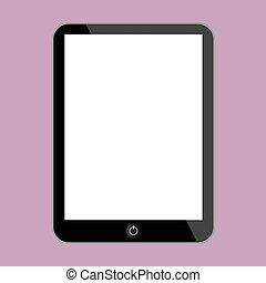 Computer tablet Vector illustration