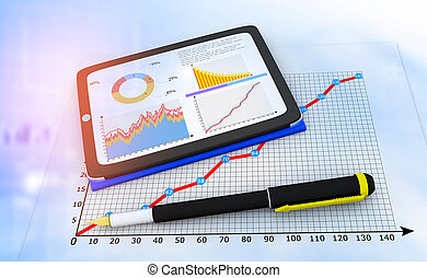Computer tablet with business documents