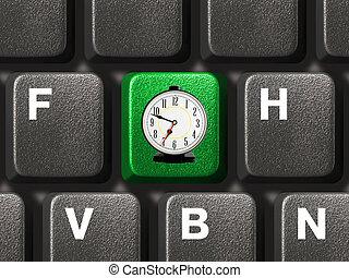 computer tastiera, chiave, tempo