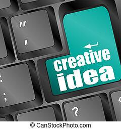 computer tastiera, idea, chiave, creativo